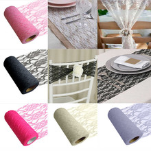 1510cm tulle wedding decoration party supplies craft roll organza mesh element table runner mariage