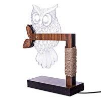 3D Owl Shape LED Desk Table Light Lamp Night Light Home Ornaments For Living Room Bedroom Home Decorations US EU Plug