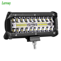 7 Inch 120W Combo Led Light Bars Spot Flood Beam for Work Driving Offroad Boat Car Tractor Motorcycle Truck 4x4 SUV ATV 12V 24V