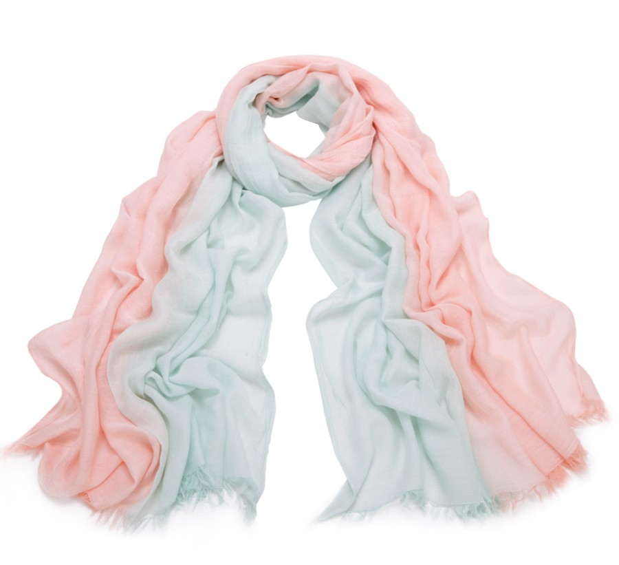 Dual Colors Cotton Scarf | Lightweight Scarves
