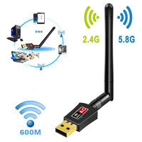 New Hot 600 Mbps 2 4 5 5 8Ghz Dual Band Wireless USB WiFi Networks Adapter