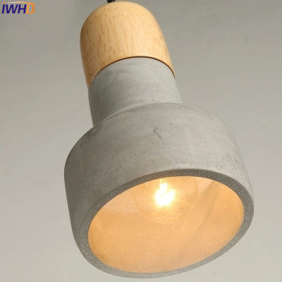 Online Shop IWHD Cement Loft Style Vintage Pendant Lamp Industrial ...