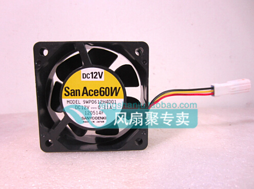 The original SANYO 9WP0612H4D01 6cm 60*60*25 12v0.11A three lines radiating fan waterproof цена
