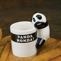 Lovely Panda Ceramic Milk Mug Creative Coffee Cup with Handle Novelty Pencil Holder Promotion Gift SH794