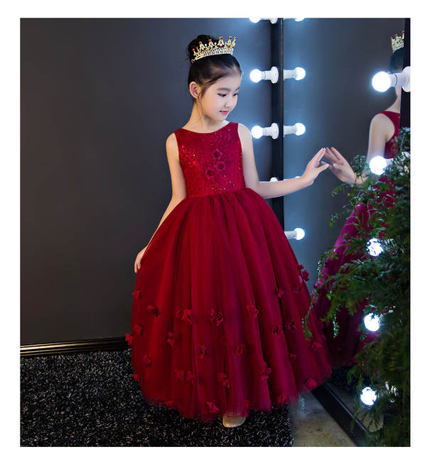 Glizt Red Lace Flower Girl Dresses Sleevesless Bead Applique first  Communion Dresses For Girls Pageant Wedding 91df3de4a712