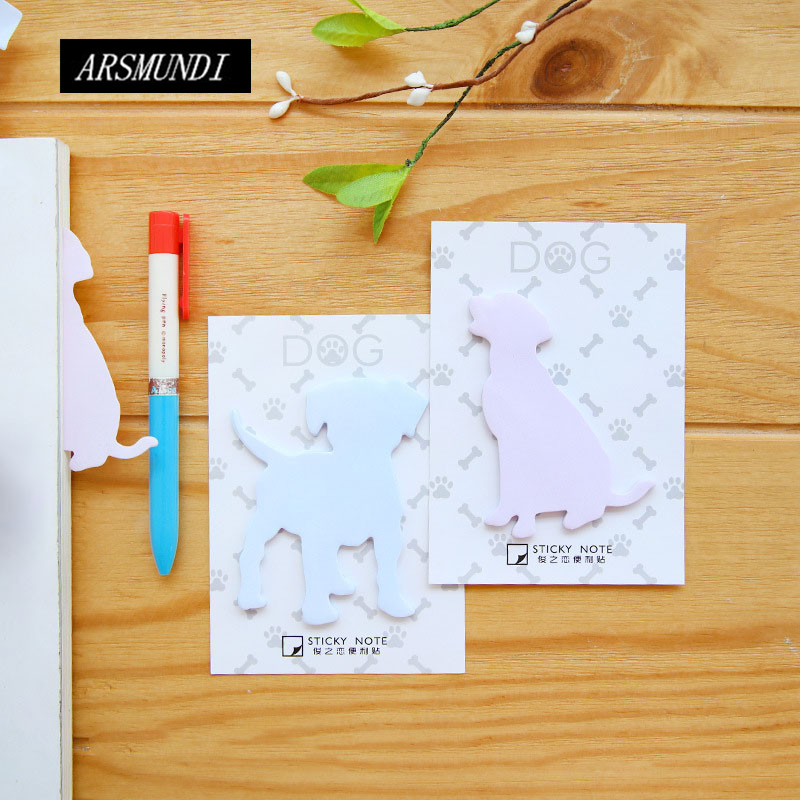 Kawaii Dog Self-adhesive Memo Pad Sticky Notes Post It Cute School Office Papeleria Planner Stickers Notepad School Supplies