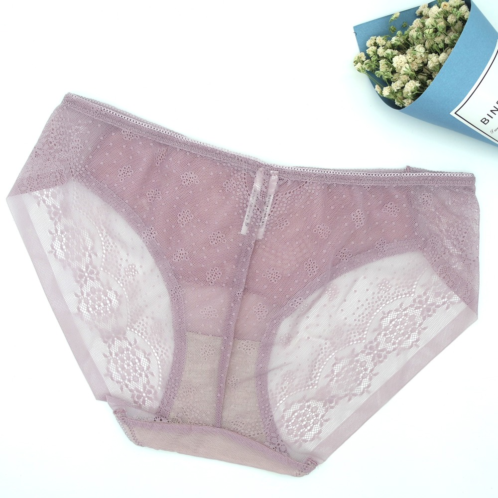 f89d42211a41 Women Lace Brief Sexy Panties Skinny Thongs Lingerie Actual Shot Extra Thin  Underwear Intimates Cotton Crotch Hook Proof Fabric -in women's panties  from ...