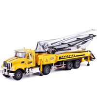 KAIDIWEI 1:55 Concrete Pump Truck Toy Alloy & ABS City Construction Vehicles Collectible Models Trucks Kids Toys Brinquedos