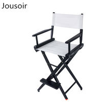 Solid wood canvas director chair folded high - legged leisure seat portable indoor outdoor advertising stool cd50(China)