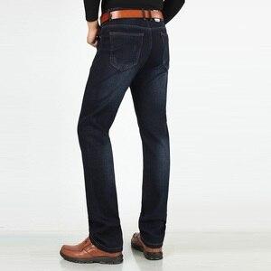 Image 3 - Siyah kot erkekler streç marka Denim pantolon erkek pantolon Cowboys elastik ekstra uzun kot artı boyutu mavi büyük uzun boylu erkek giyim