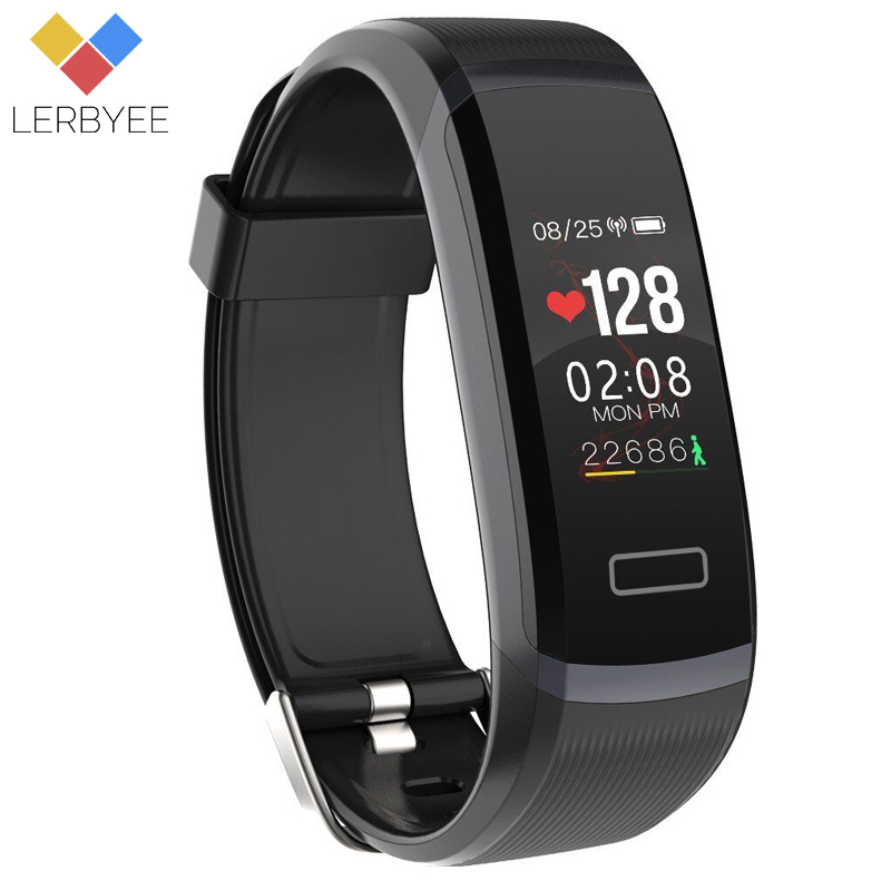 LERBYEE Color Screen Smart Bracelet GT101 Waterproof Heart Rate Monitor Fitness Tracker Bluetooth Smart Watch Call Reminder New lerbyee fitness tracker m4 heart rate monitor waterproof smart bracelet bluetooth call reminder sport wristband for ios android