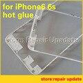 10 unids para iPhone6s 6 splus Embellecedor Frontal con pegamento líquido Pantalla LCD Marco Medio Vivienda Piezas Chrome Holder