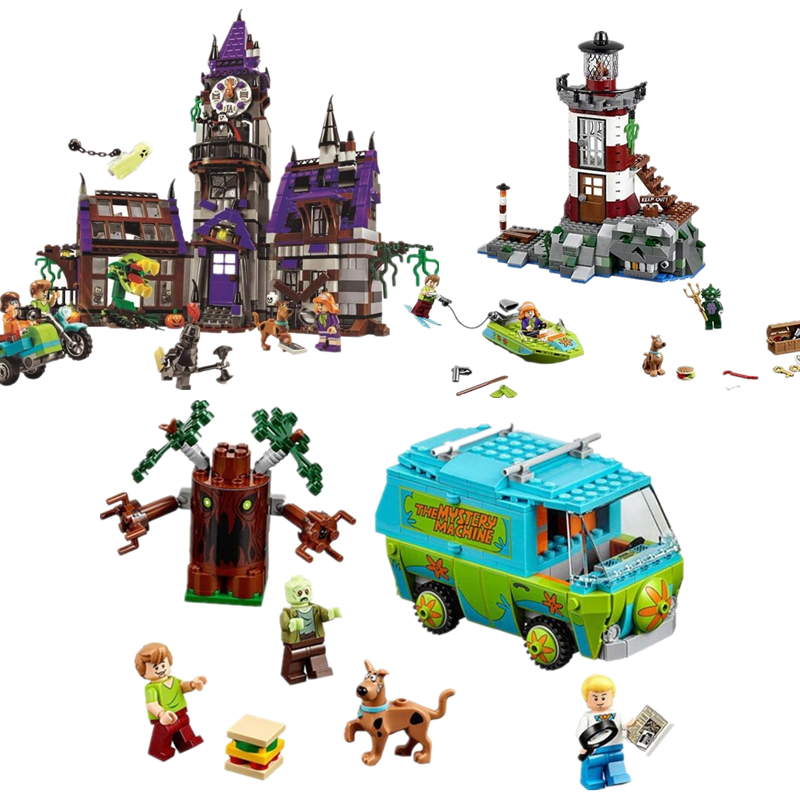 (GonLeI) 10430 10431 10432 Scooby Doo Building Blocks Model Educational Toy For Children Scooby Legoinglys 75902 75903 75904 new scooby doo mystery castle courtyard mansion fit legoings scooby doo figures model building blocks bircks 75904 kid toy gift