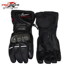 Pro байкер Guantes перчатки мотоцикла Водонепроницаемый кожаные перчатки мотоциклетные зимние теплые полный палец Мотокросс Мотоцикл мото перчатки