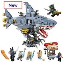2019 New Ninja The Ninjago Movie Garmadon 6-Shark Building Blocks Sets Diy Bricks 70656 Compatible with Lego Best Gift недорого