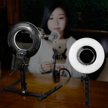 10 Inch Ring Light Dimmable Tabletop Photography Light 24W 5500K Makeup Lamp Photo Studio Photography for Phone Video Live Gift