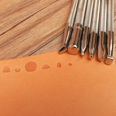 Realista impresión 6 pcspattern cuero hecho a mano clásico grabado herramienta de talla, alto grado artesanía de cuero estampado herramienta de moldeo