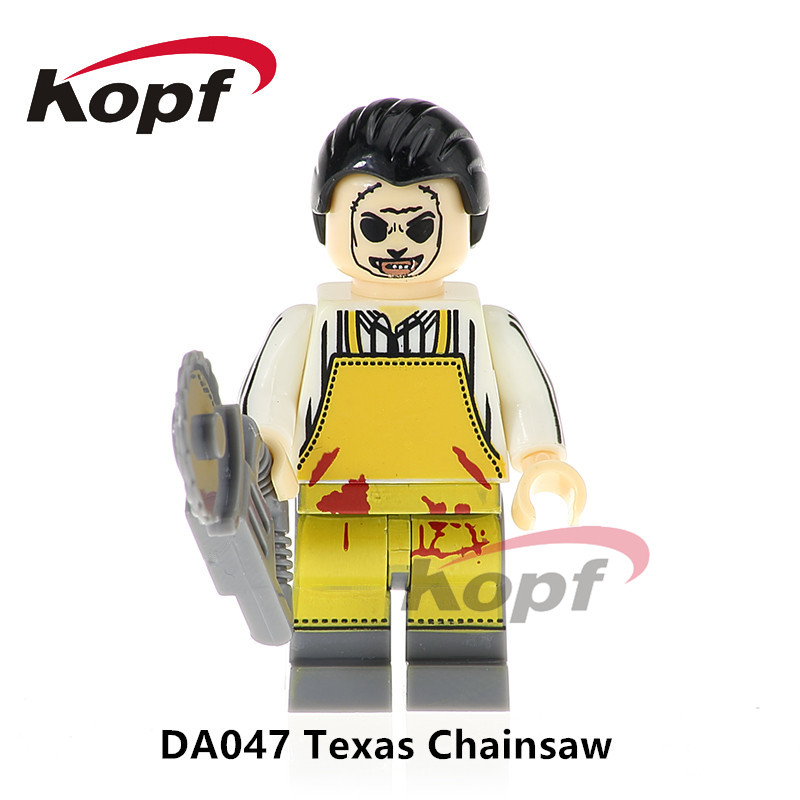 Single Sale Texas Chainsaw Horror Movie Massacre TV Shows Michael Myers Action Figures Building Blocks Children Toys Gift DA047 genuine mezco texas chainsaw massacre saw massacre pvc action figure collectible model toy christmas gifts free shipping