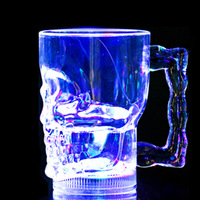 Professional Manufacturer Of LED Light Glass Induction Seven Skull Cups Into Water From Cups Of Water