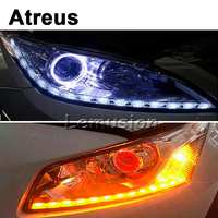 Atreus Car 50cm Crystal strips Flexible LED DRL Stripes h7 LED Daytime Running Light Reversing Turn Signal Light Car Accessories