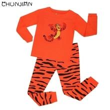 Boys tiger long sleeve pyjamas