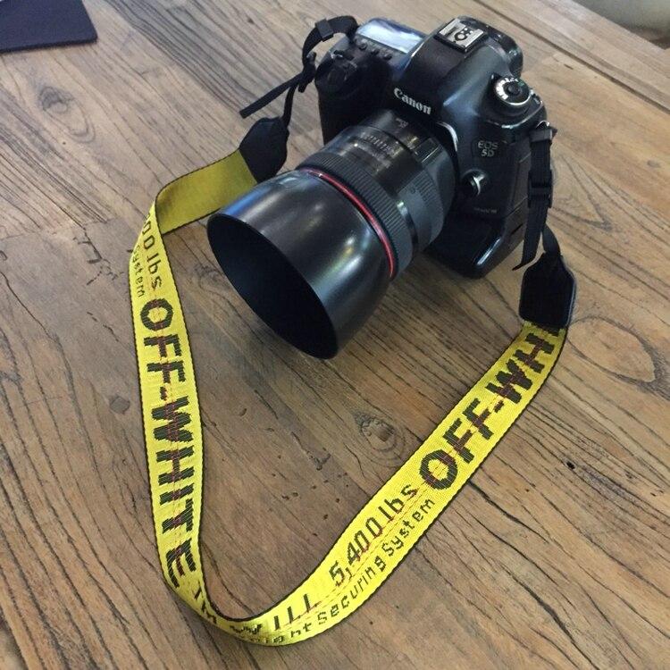 Off Blanc Néoprène Courroie De Cou pour Canon Nikon Pentax Sony Fuji Olympus Caméra Rose/Jaune/Argenté/Noir /ROUGE/VERT/ROSE