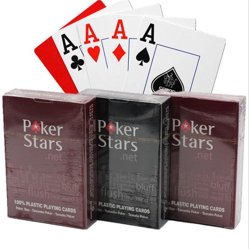2 jogos/lote texas holdem plástico jogando cartas de jogo poker cartões à prova dwaterproof água e maçante polonês poker star board jogos