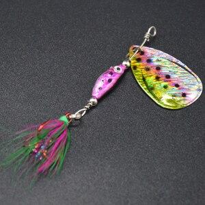 Image 5 - WLDSLURE 1 pz 6.5g spinner cucchiaio esca in metallo Fishin esca paillettes Crankbait cucchiaio esche per trota trota pesce persico luccio pesca rotante