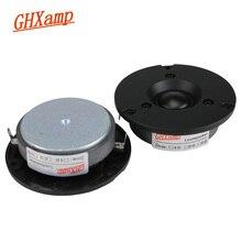 Ghxamp 3 인치 6ohm 40 w 트위터 스피커 유닛 돔 hifi 실크 필름 홈 시어터 초고 고음 톤 라우드 스피커 87db 18 khz 2 pc