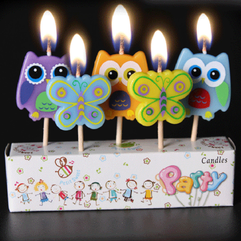 Creative 5pcs Set Lovely Animals Boats Birthday Candle Kids Gift Cartoon Craft Cute Party Supplies Cake Topper Candles Hot Sale