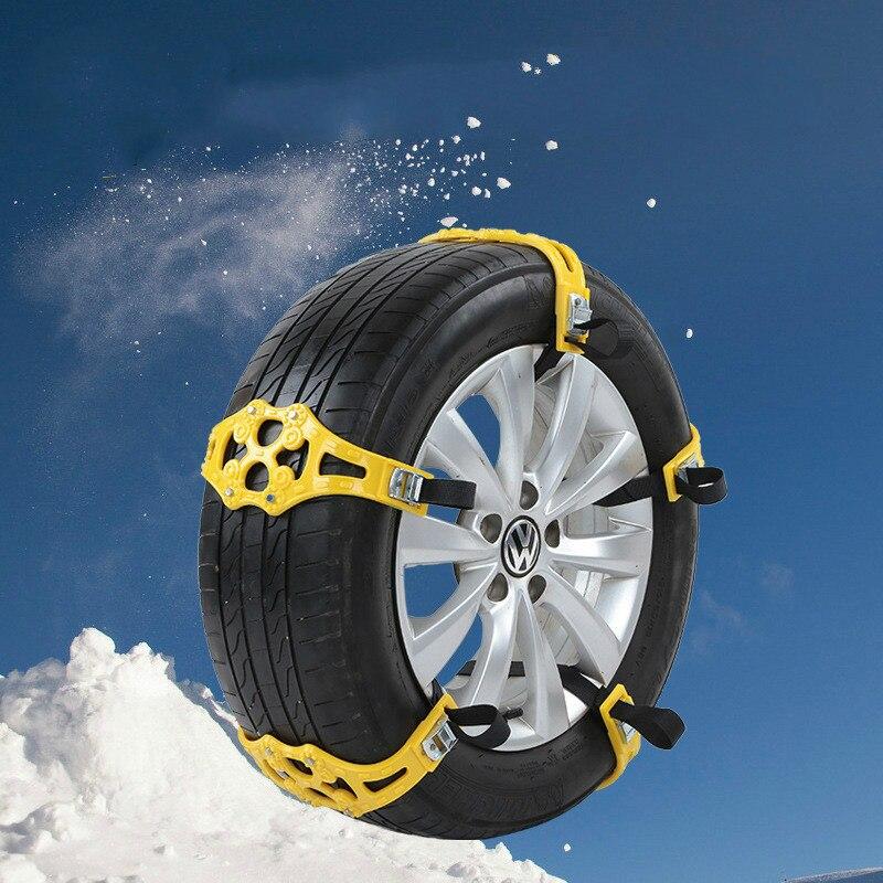 1pc easy install simple winter truck car snow chain black tire anti skid belt van wheel tyre. Black Bedroom Furniture Sets. Home Design Ideas