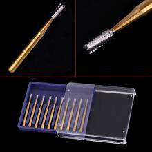 10 sztuk Dental FG1957 wolframu stali nierdzewnej korona do cięcia metalu wiertła do szybka prostnica dentysta narzędzia sprzęt laboratoryjny