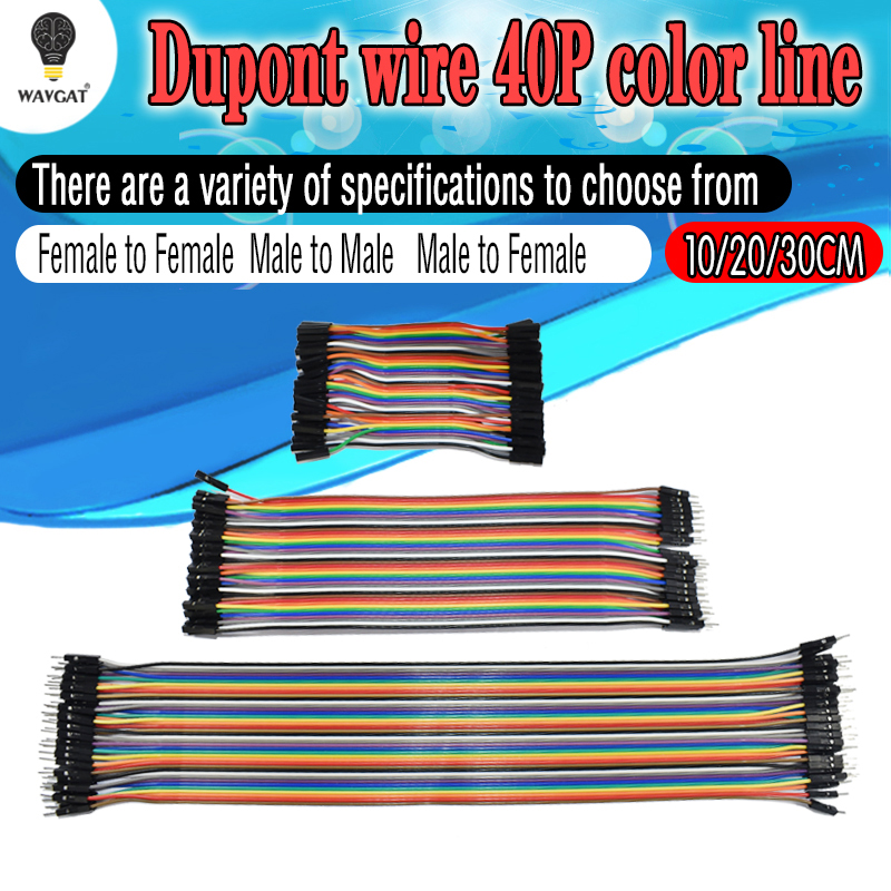 40PIN 10CM 20CM 30CM Dupont Line Male to Male + Female to Male and Female to Female Jumper Dupont Wire Cable for arduino DIY KIT40PIN 10CM 20CM 30CM Dupont Line Male to Male + Female to Male and Female to Female Jumper Dupont Wire Cable for arduino DIY KIT