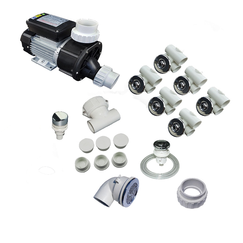 bathtub all parts kit collection with 0 5HP WHIRLPOOL JETTED TUB complete contractor kit