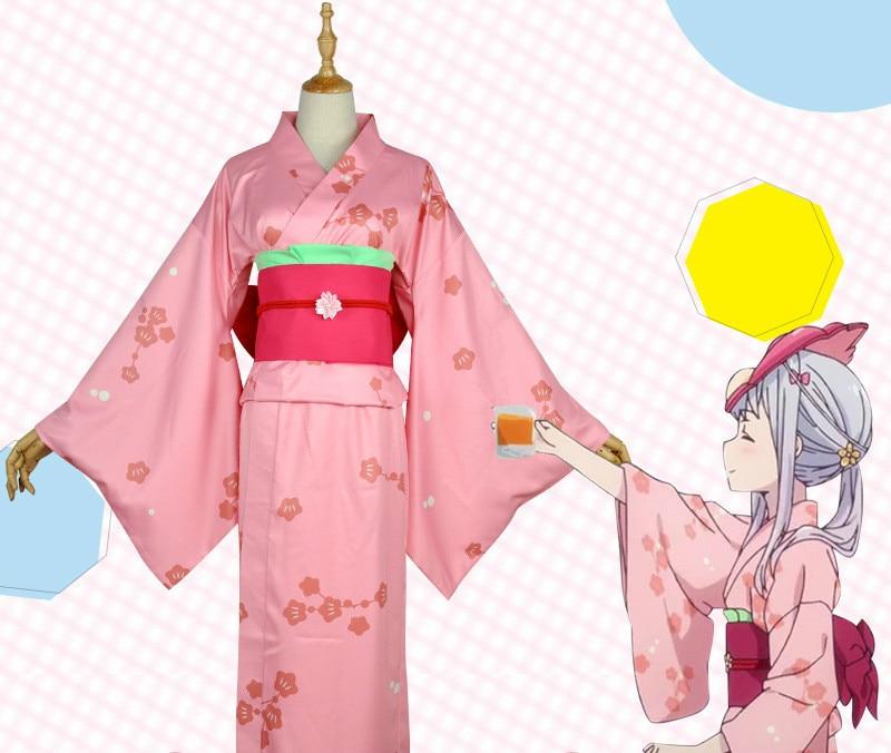 Eromanga Sensei Izumi Sagiri Kimono Yukata Dress Outfit Anime Cosplay Costumes