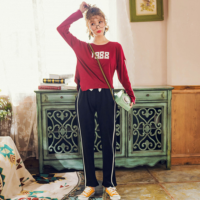 Long Sleeve Pure Cotton Woman Pyjamas