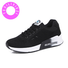Summer Breathable Uppers Comfortable Legs Ladies Platform Skid Light Weight Walking Air Cushion Casual Shoes Sapatos Mulher