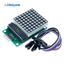 MAX7219 Dot Led Matrix Module MCU LED Display Control Module for Arduino 5V Module 8 x 8 Output Input Common Cathode with Cable цена