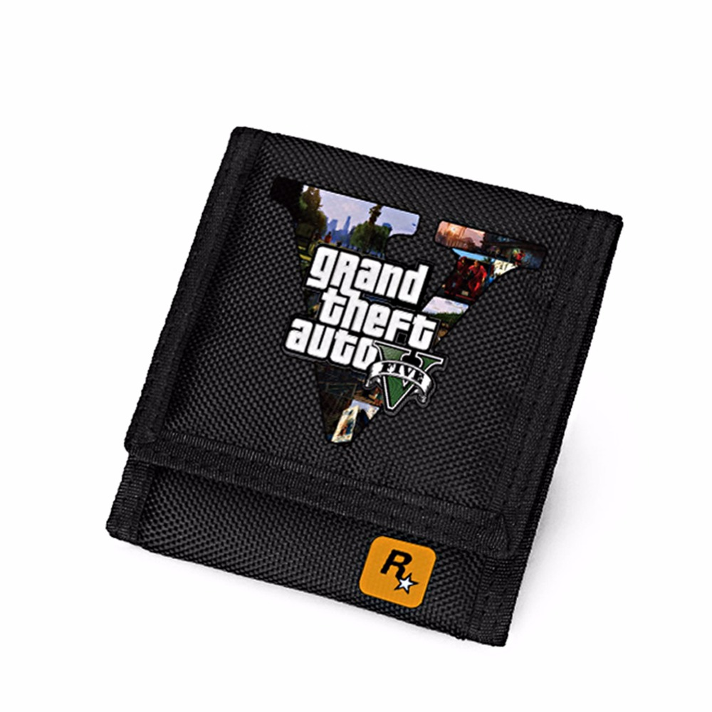 PC Game GTA5 Wallet for Teenagers Grand Theft AutoV Short Purse Black Men's Wallets Children Carteira сумка printio gta 5 dog