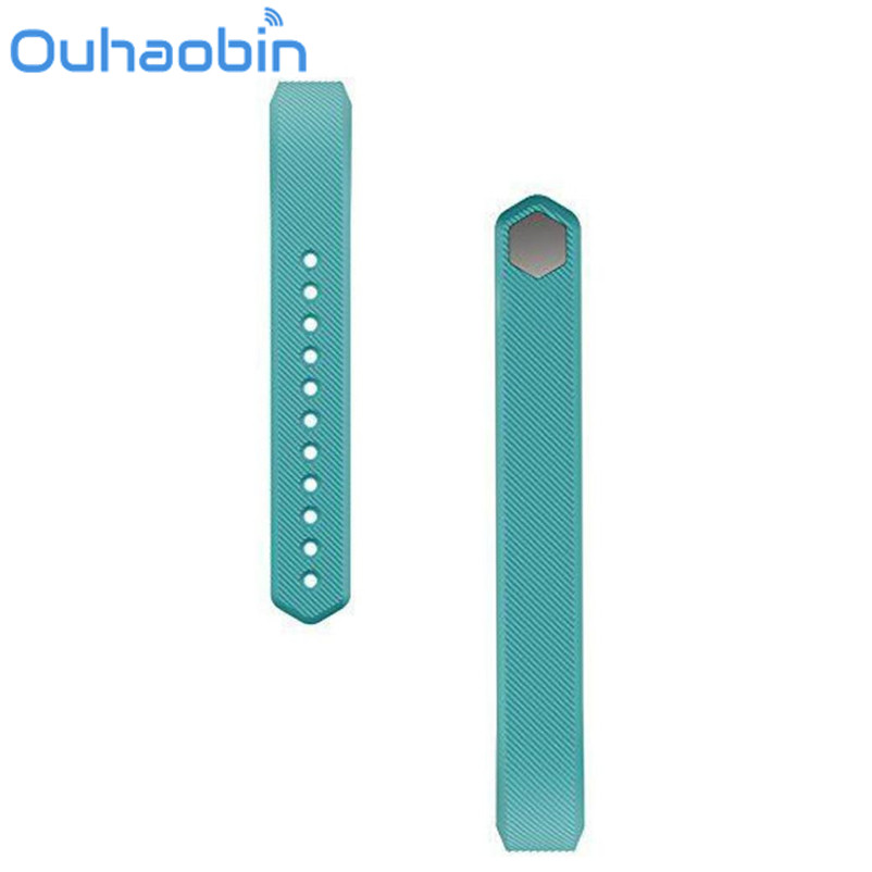 Ouhaobin 10.5cm Light Blue Soft Silicone Watch band Wrist strap For Fitbit Alta Smart Watch Gift Oct 26 Dropship