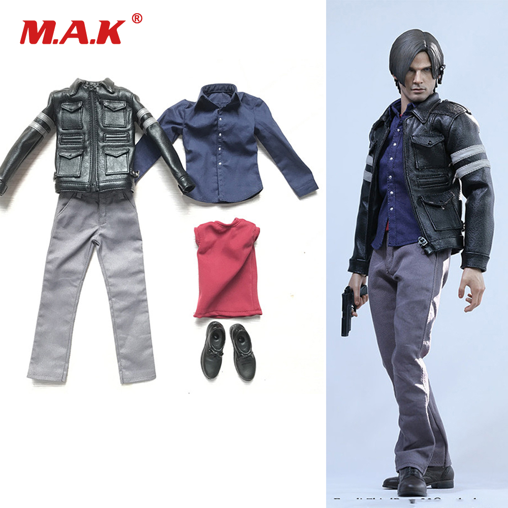 1/6 Scale Male Figure Clothes Set Model Resident Evil 6 Leon Scott Kennedy Clothing for 12 Collectable Figure Body 1 6 scale leon scott kennedy male head sculpt models in resident evil for 12 inches men bodies