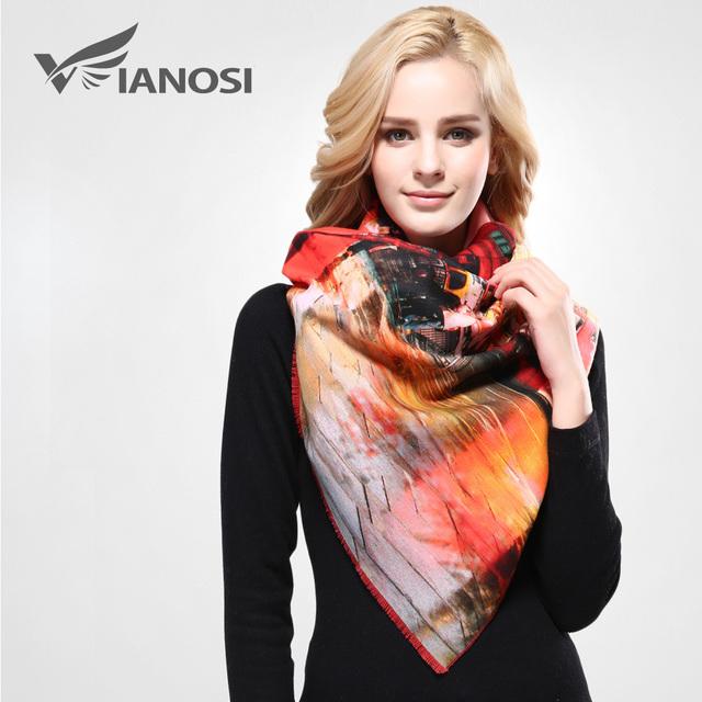 [Vianosi] bufanda diseñador de la marca de lujo bufandas mujeres chal de impresión mujer echarpe foulard bufanda de lana de cachemira caliente va073