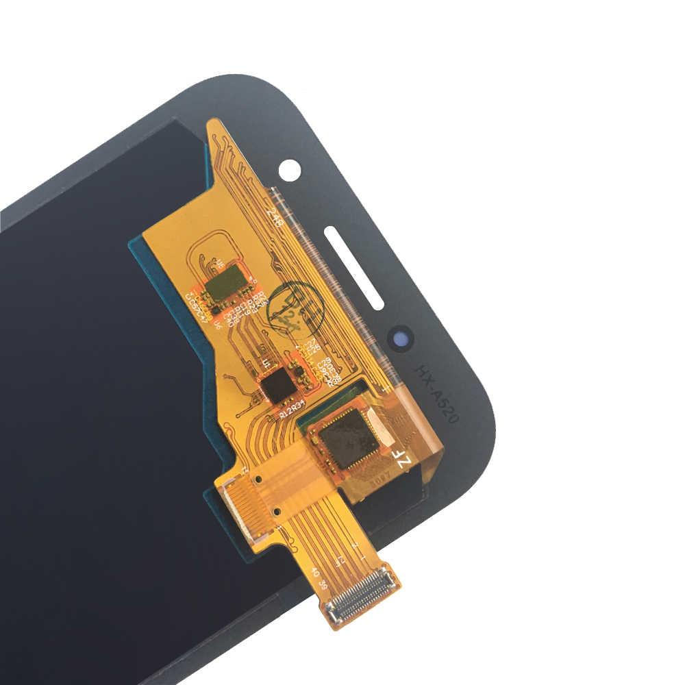 Super amoled lcd wyświetlacz do Samsung Galaxy A5 2017 wyświetlacz A520 A520F A520F/DS wymiana ekranu lcd Digitizer zgromadzenia testowane