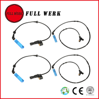 Set of 4pcs ABS Wheel Speed Sensor Front Rear Left Right for BMW E46 316 i 318 320 325 34526752681 34526752682 34526752683