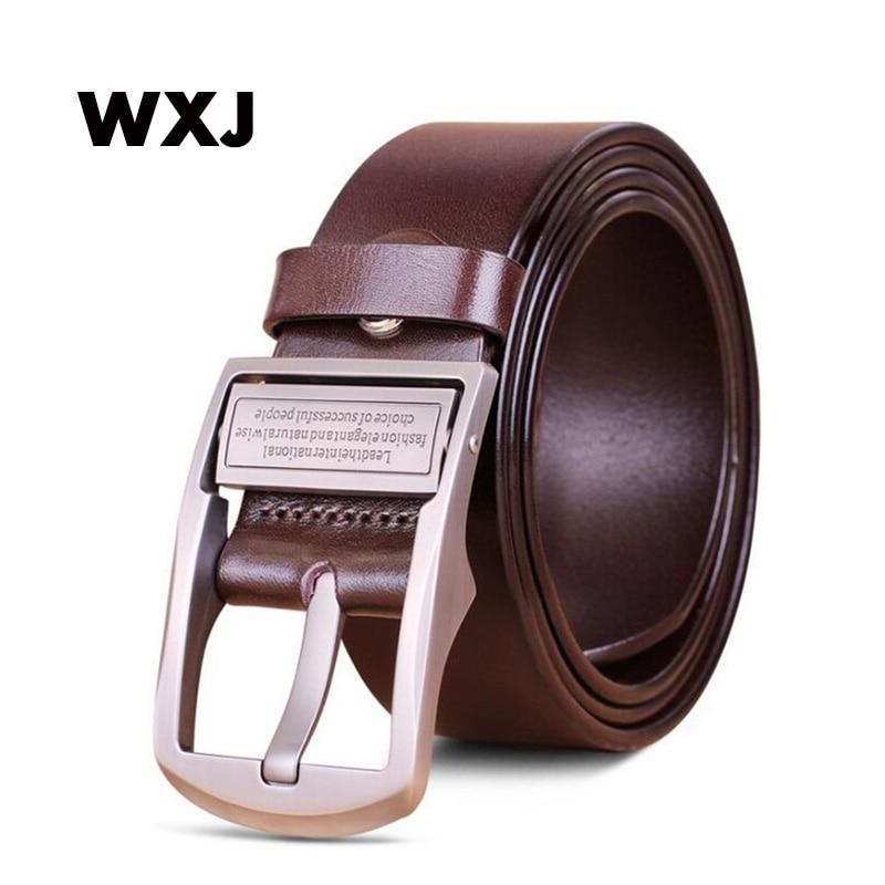 80c0e917eedf WXJ hommes de ceinture en cuir véritable designer ceintures hommes de luxe  sangle mâle ceintures pour hommes mode vintage boucle ardillon pour jeans  WL010 ...