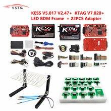 الأعلى مبيعًا محولات مجس KTAG KESS KTM Dimsport BDM طقم كامل 22 قطعة Ktag v7.020 v2.23 v2.25 KESS v2.47 v5.017
