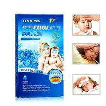 KONGDY, 24 штуки = 6 синих коробок, охлаждающие гелевые Пластыри для снижения температуры, головной боли, стресса, рельефные подушки для детской температуры, взрослых, Горячие Вспышки