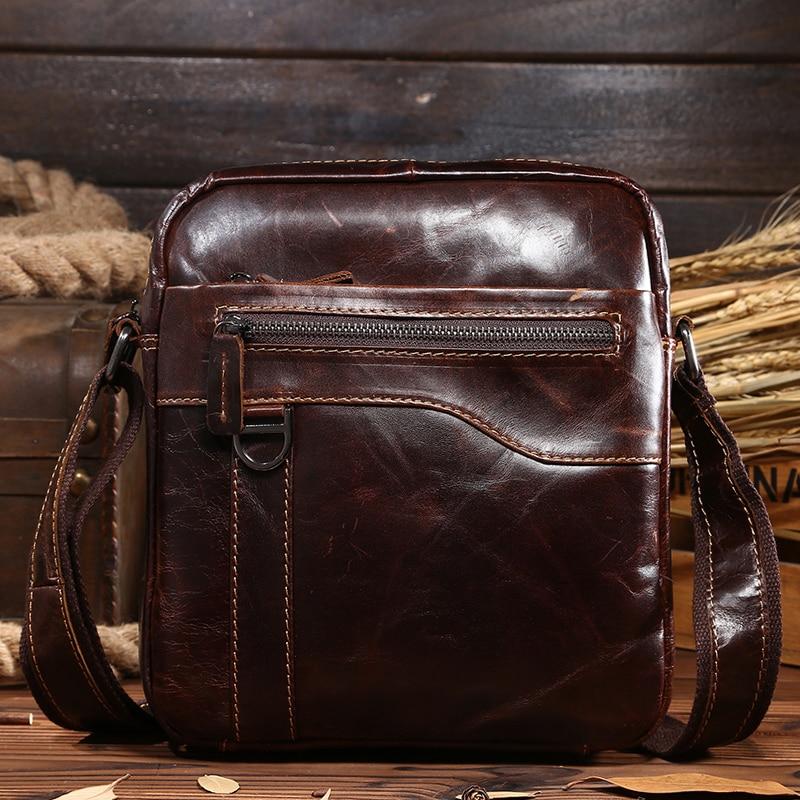 0067,Guaranteed genuine leather Mens Briefcase men messenger bags Business travel bag man leather vintage men shoulder bag