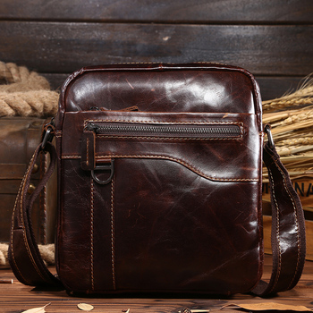 Guaranteed genuine leather Men's Briefcase men messenger bags Business travel bag man leather vintage men shoulder bag