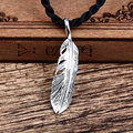 couple pendants large pendant necklace hanging jewelry eagle feathers and 925 silver retro Europe